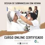 Design de Sobrancelha com Henna – ONLINE